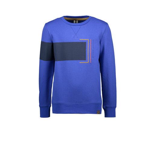 B.Nosy B.Nosy jongens sweater met colorblock Cobalt Blue