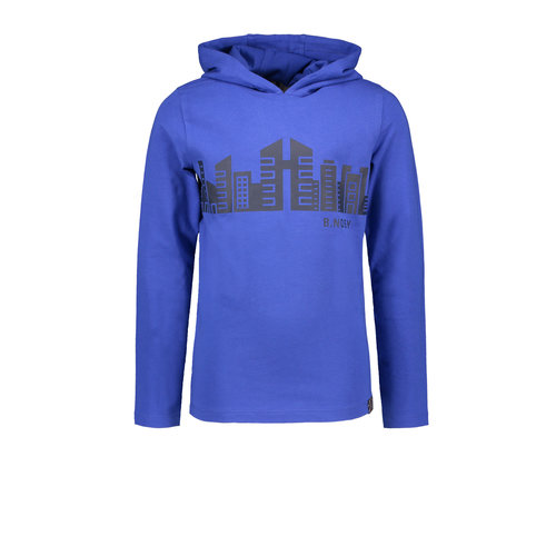 B.Nosy B.Nosy jongens hoodie Buildings Cobalt Blue