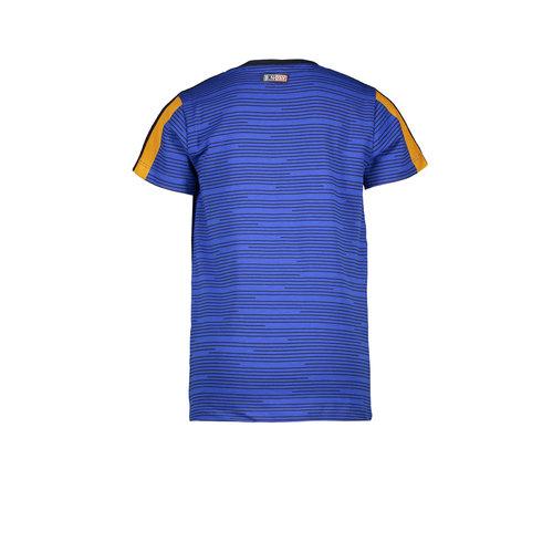 B.Nosy B.Nosy jongens t-shirt Empire Stripes Cobalt