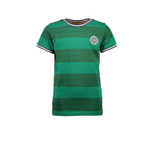 B.Nosy B.Nosy jongens t-shirt horizontal printed stripes Ever Green