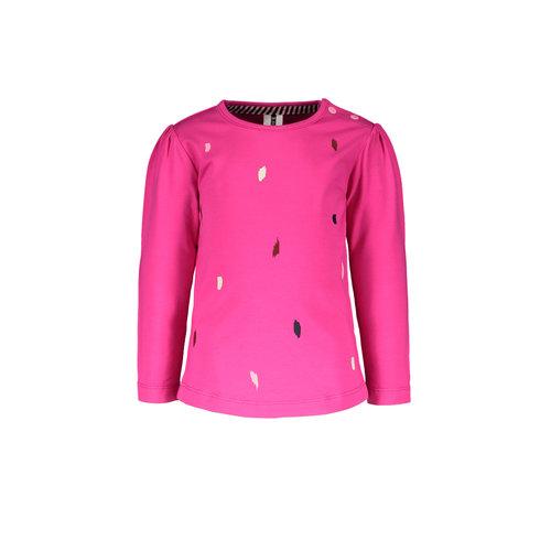 B.Nosy B.Nosy baby meisjes shirt met Spots Beetroot Pink