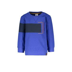 B.Nosy B.Nosy baby jongens sweater met colorblock Cobalt Blue