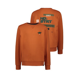 Moodstreet Moodstreet jongens sweater Backprint Rust