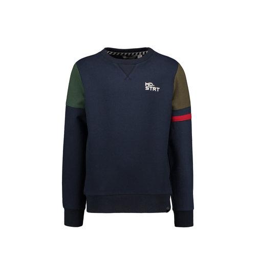 Moodstreet Moodstreet jongens sweater colorblock MD.STRT Navy