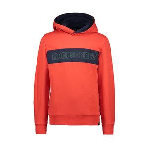 Moodstreet Moodstreet jongens hoodie borduurlogo Red