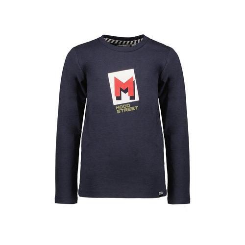 Moodstreet Moodstreet jongens shirt logo embleem Navy
