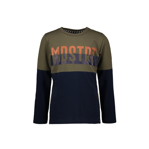 Moodstreet Moodstreet jongens shirt 2 colorblock MDSTRT Khaki