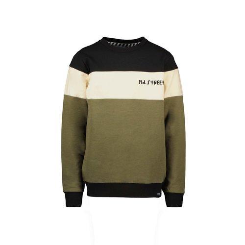 Moodstreet Moodstreet jongens colorblock sweater Black