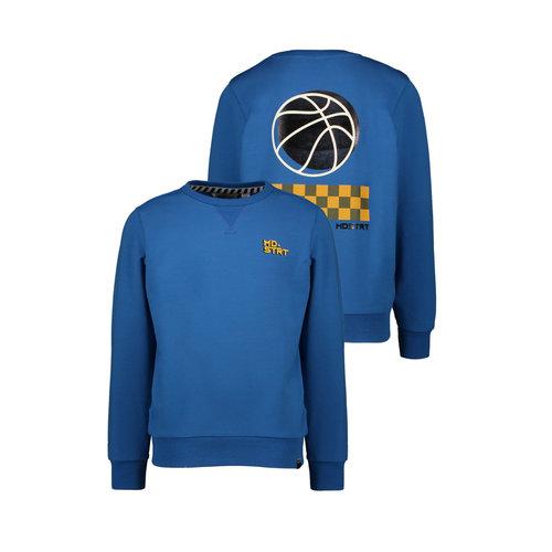 Moodstreet Moodstreet jongens sweater backprint True Blue