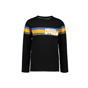Moodstreet Moodstreet jongens shirt Contrast Stripes Black