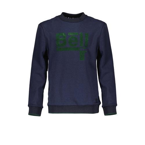 Bellaire Bellaire jongens sweater ronde nek logo Navy Blazer
