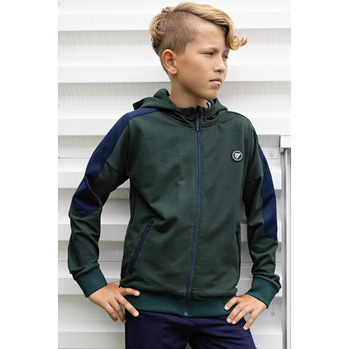 Bellaire Bellaire jongens vest with contrast parts Deep Forest
