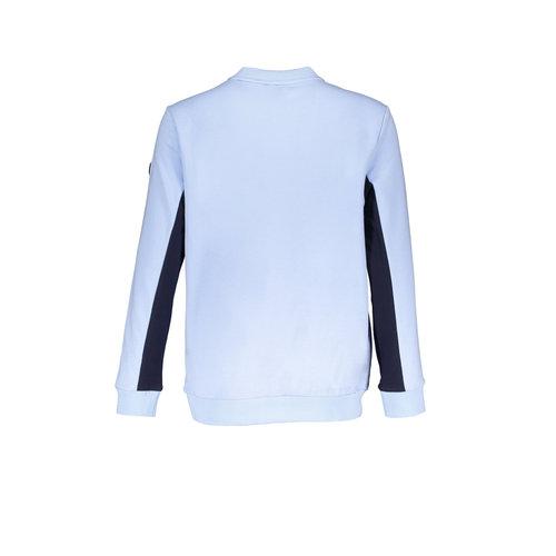 Bellaire Bellaire jongens sweater met ronde nek en contrast kleur bij de armen Air Blue