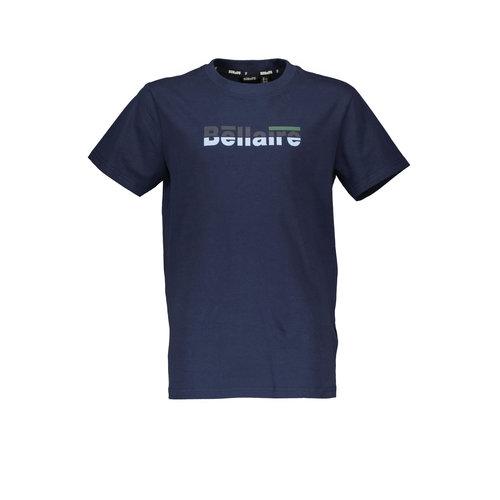 Bellaire Bellaire jongens t-shirt met logo Navy Blazer