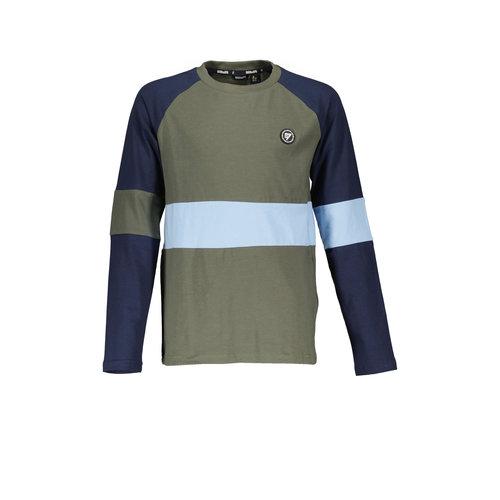Bellaire Bellaire jongens shirt met small colorblock Deep Forest