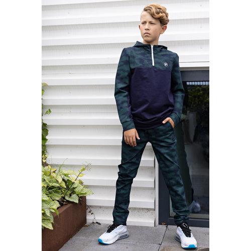 Bellaire Bellaire jongens joggingbroek Camo aop Navy Blazer
