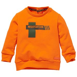 Quapi Quapi baby jongens sweater Leandro Orange Warm