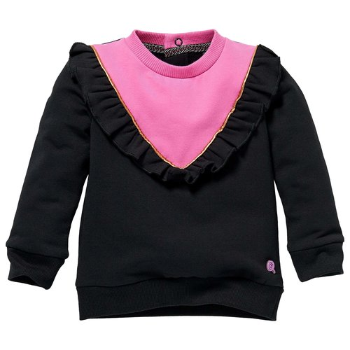 Quapi Quapi baby meisjes sweater Lisanne Black