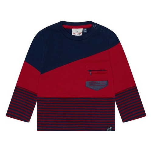RETOUR Retour baby jongens shirt Lance Dark Navy