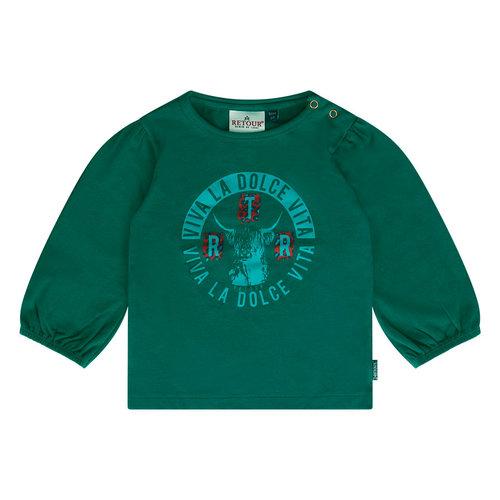 RETOUR Retour baby meisjes shirt Noor Forest Green
