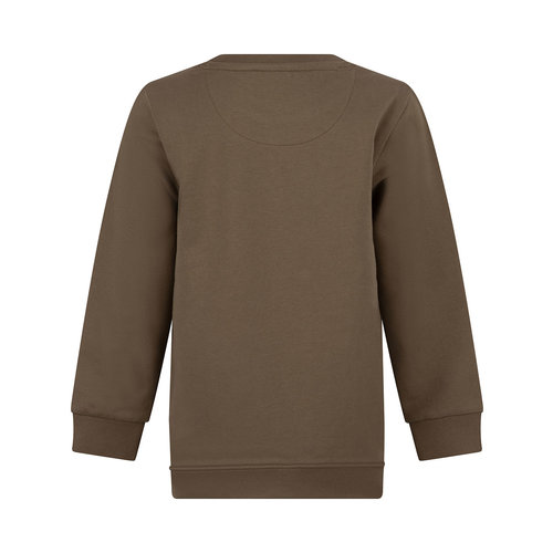 Daily7 Daily7 jongens sweater met zak aan de voorkant Dusty Army