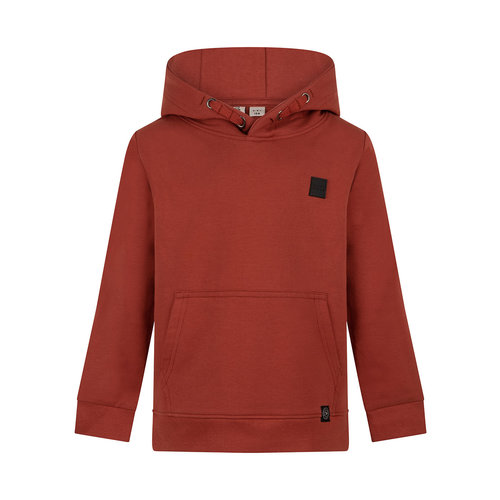 Daily7 Daily7 jongens hoodie met kangaroo zak Barn Bordeaux