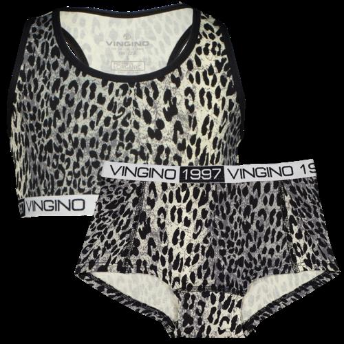 Vingino Vingino meiden ondergoed set Animal Deep Black