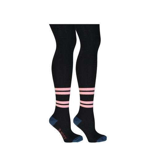 B.Nosy B.Nosy meisjes maillot B.Marble 2 stripes Black