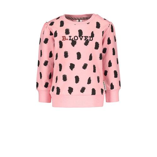 B.Nosy B.Nosy baby meisjes sweater aop Punch Paint