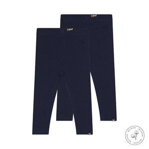 Koko Noko Koko Noko meisjes Bio Cotton 2-pack legging Navy