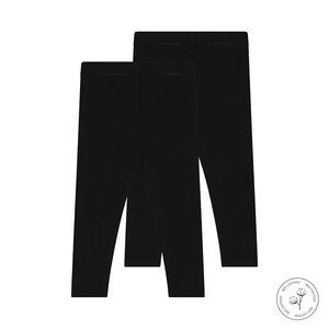 Koko Noko Koko Noko meisjes Bio Cotton 2-pack legging Black