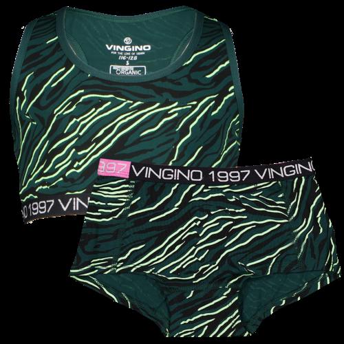Vingino Vingino meiden ondergoed set Zebra Green