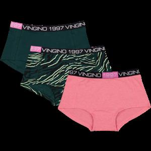 Vingino Vingino meiden ondergoed 3-pack boxers Zebra Green