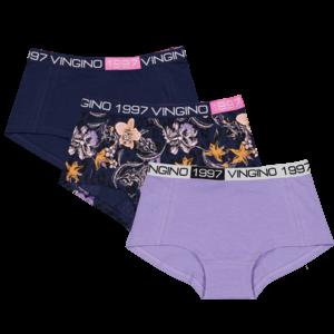 Vingino Vingino meiden ondergoed 3-pack boxers Flower Blue