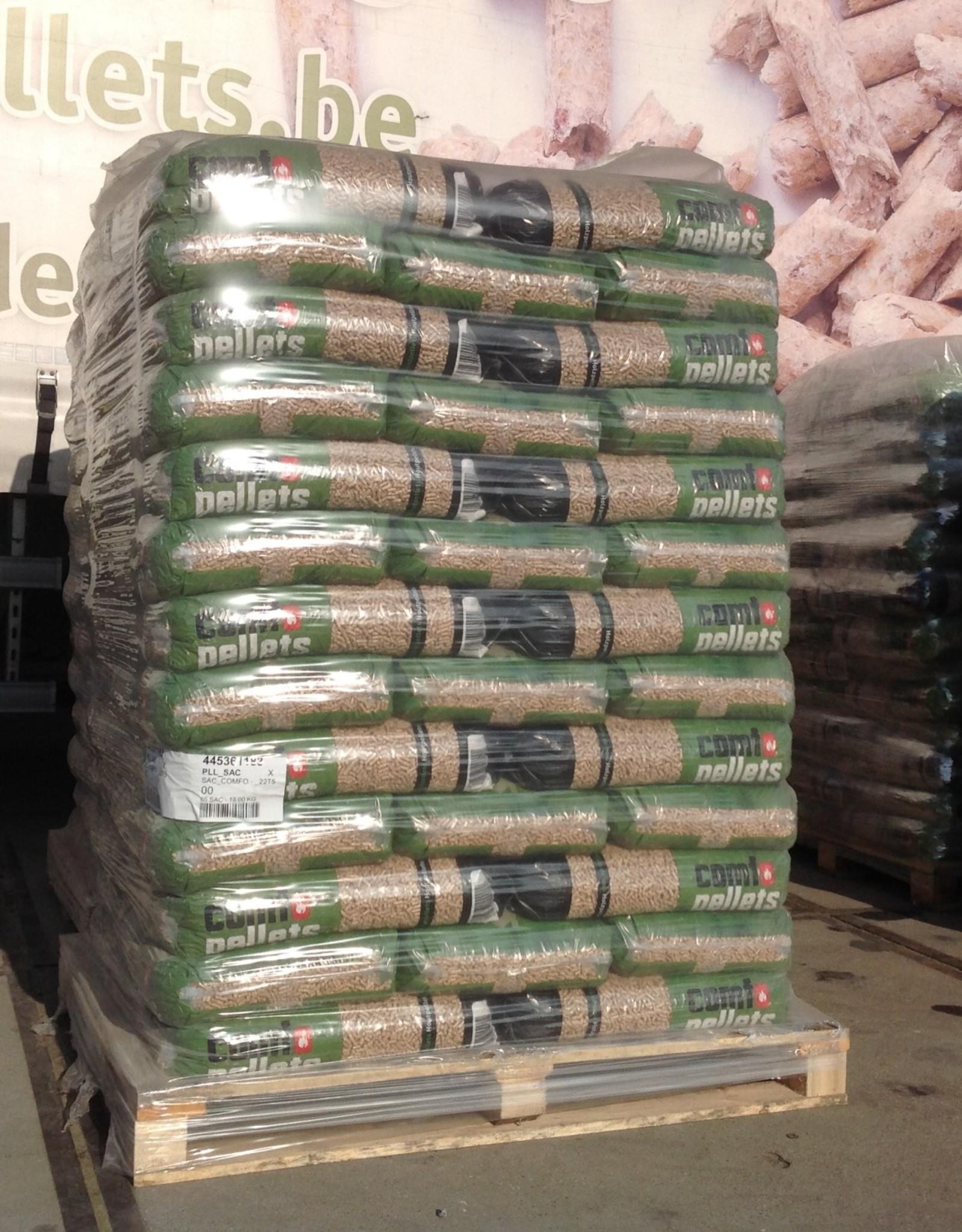 Comfo-pellets 1 palet  FRUYTIER GROUP 65 ZAKKEN 975 KG