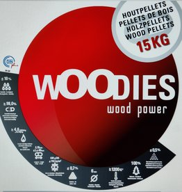 Woodie-pellets WOODIE-PELLETS ( Total group )  1 ZAK 15 kg