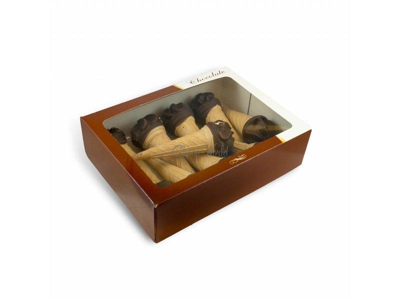 Schokoküsse-Eis mit  rundem Foto