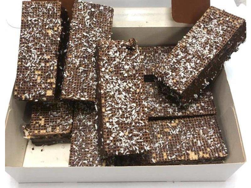 Schokolade Waffeln mit Kokos
