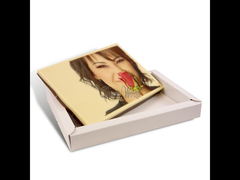 Schokolade Karte gross mit foto