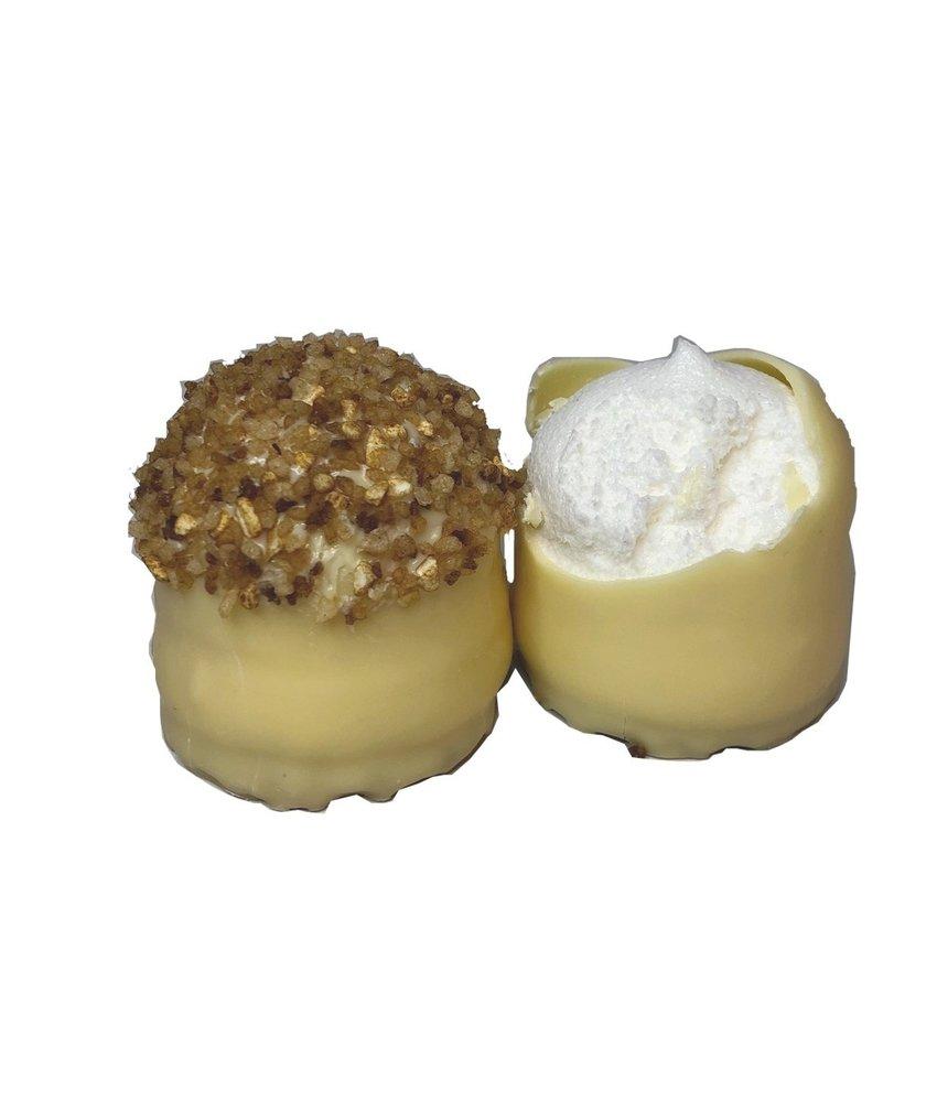 Schokoküsse Weiße Schokolade Krokant