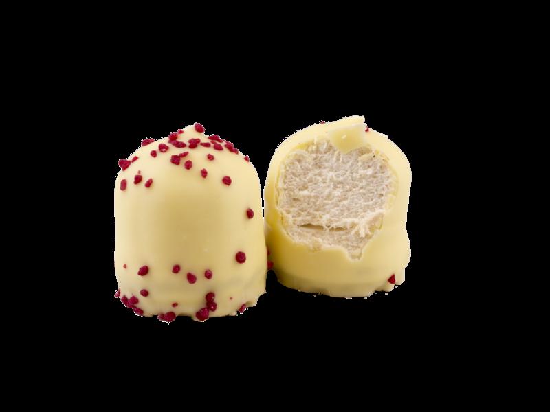 Schokoküsse Weiße Schokolade mit Erdbeer