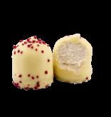 Weiße Schokolade mit Erdbeeren Schokoküsse