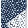 ESKIMO tafellaken & deken linnen & biokatoen - blauw en wit