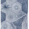 RUUT blanket/tablecloth linen & organic cotton - blue & white