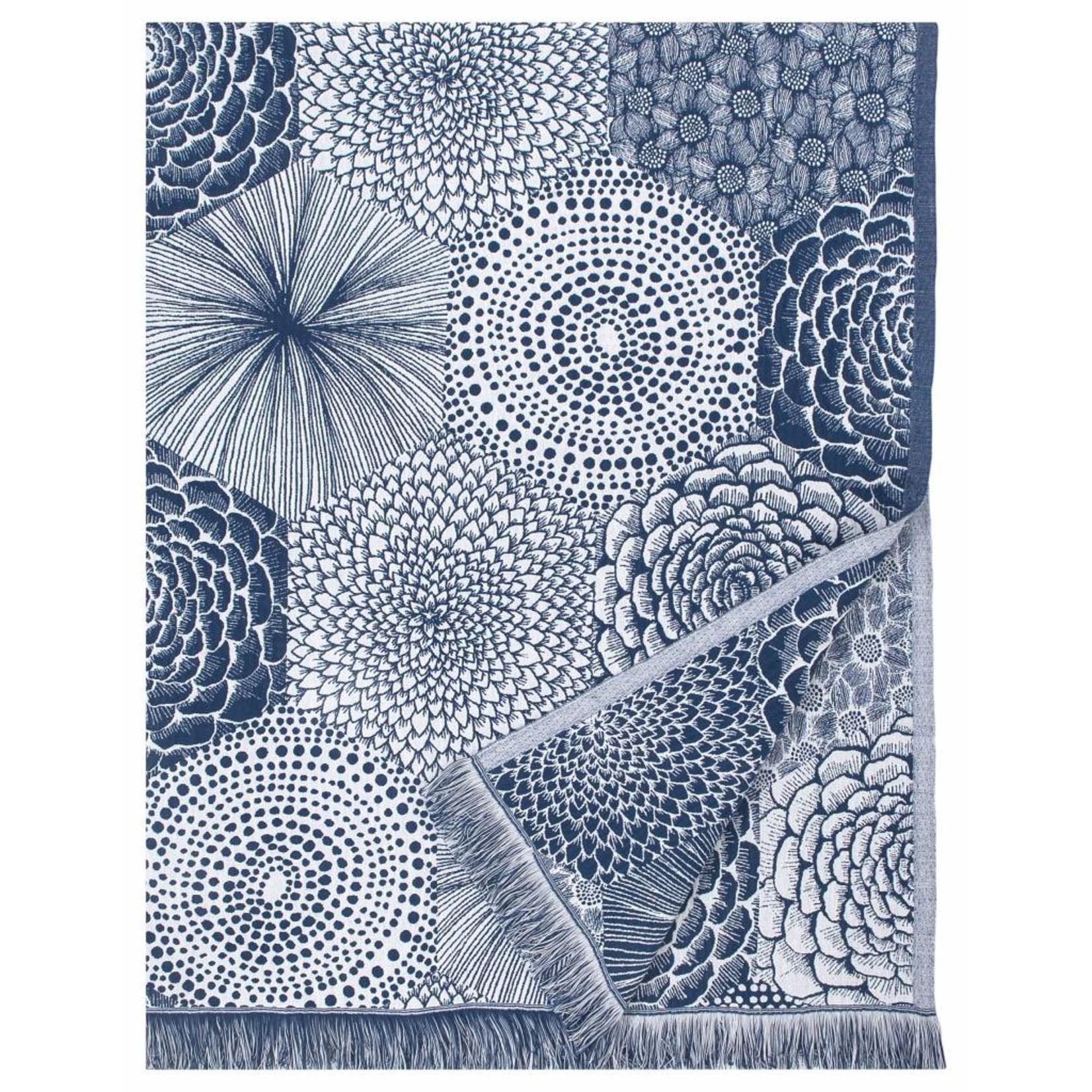 Lapuan Kankurit RUUT tablecloth & blanket linen & organic cotton - blue & white