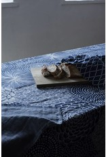 Lapuan Kankurit RUUT blanket/tablecloth linen & organic cotton - blue & white