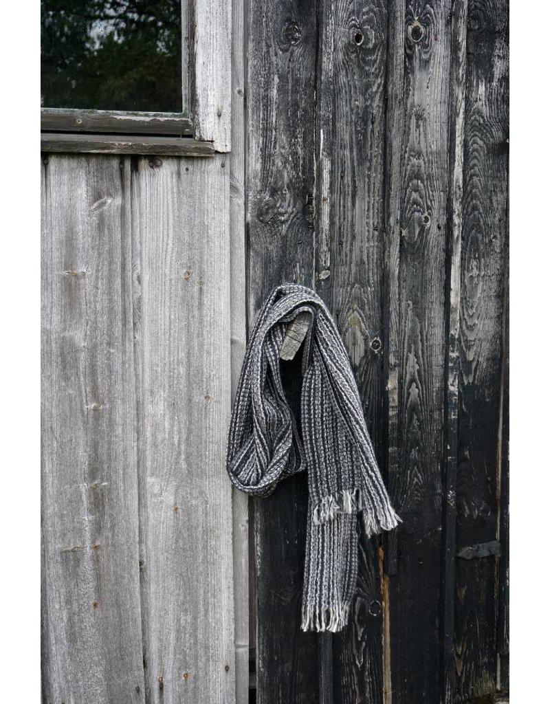 Lapuan Kankurit KAARNA scarf - black, 100% wool