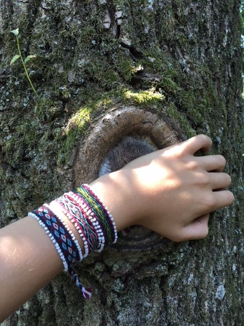Amaru handwoven bracelets - set of 3 - 100% wool