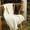 Alpaca Blanket Handmade - Cream & Onyx