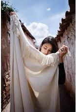 Threads of Peru Alpaca Blanket Handmade - Cream & Onyx